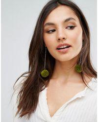Rock N Rose - Rock N Rose Tabitha Pom Pom Drop Statement Earrings - Lyst