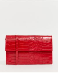 French Connection - Laurie Patent Snakeskin Handbag - Lyst