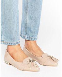 Miss Kg - Nikki Pointed Tassel Flat Shoes - Lyst