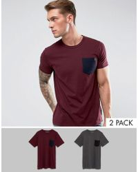 French Connection - 2 Pack Pocket T-shirt - Lyst