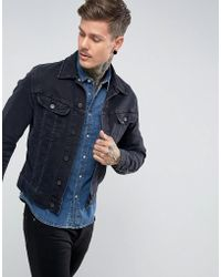 Lee Jeans - Rider Jacket Slim Vintage Fit Blue Black - Lyst