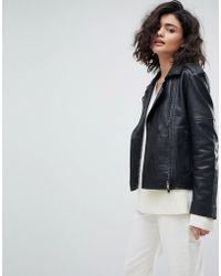 Muubaa - Healey Leather Biker Jacket - Lyst