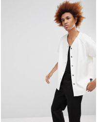 Sixth June - Basbeball Shirt In White Velour - Lyst