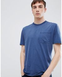 SELECTED - Pocket T-shirt In Washed Jersey - Lyst