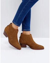 Hudson Jeans - Ernest Tan Suede Flat Ankle Boots - Lyst