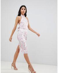 True Violet - Bar Back Bodycon Dress - Lyst