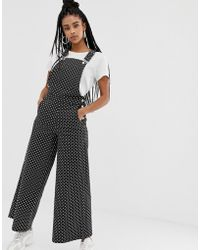 Daisy Street - Relaxed Dungarees In Polka Dot - Lyst