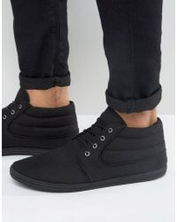 ASOS - Chukka Boots In Black Canvas - Lyst