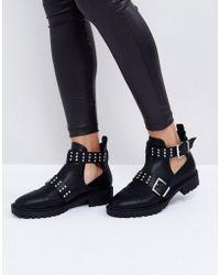 ASOS | Alibi Studded Biker Boots | Lyst