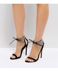 Truffle Collection - Embellished Heeled Sandal - Lyst