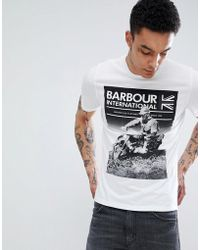 Barbour - Archive T-shirt In White - Lyst