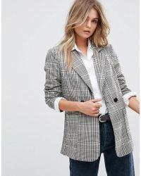 Vero Moda - Check Tailored Blazer - Lyst