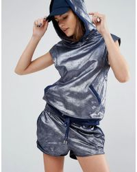 First Base - Metallic Hoodie - Lyst