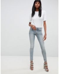 G-Star RAW - 3301 Deconstucted Mid Rise Skinny Jean - Lyst
