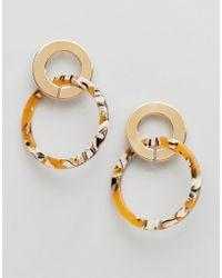 Ashiana - Double Hoop Earrings In Resin - Lyst