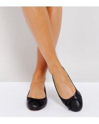 ASOS - Asos Lifesaver Wide Fit Leather Ballet Flats - Lyst
