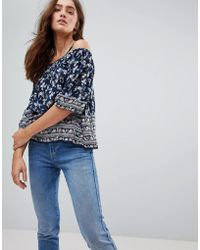 Pepe Jeans - Ditsy Floral Cold Shoulder Blouse - Lyst