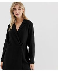 Pimkie - Blazer Playsuit With Tie Waist In Black - Lyst