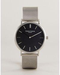 Simon Carter - Wt2401 Mesh Watch In Silver - Lyst