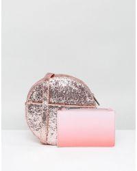Skinnydip London | Pink Glitter Round Cross Body Bag | Lyst