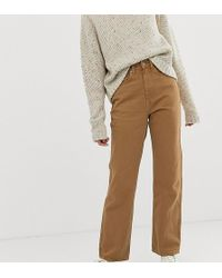 Weekday - Row Slim Straight Jeans With Organic Cotton In Camel - Lyst