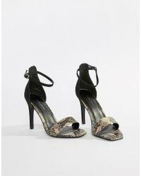 New Look - Animal Print Heeled Sandals - Lyst