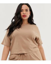 b54532f94a2bc PUMA Camel Long Sleeve Crop Top Co Ord in Natural - Lyst