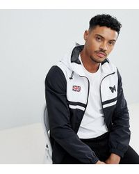 Good For Nothing - Windbreaker Jacket In Black With Contrasting White Panel Exclusive To Asos - Lyst