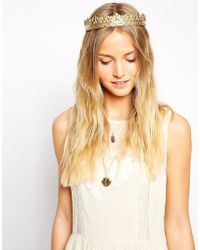 Rock N Rose - Cara Metal Crown Headband - Lyst