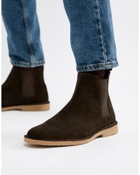 Office - Iberian Chelsea Boots In Brown Suede - Lyst
