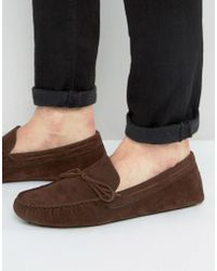 ASOS - Driving Shoes In Brown Faux Suede - Lyst