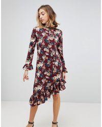 Walter Baker - Gayle Asymmetric Hem Floral Print Dress - Lyst
