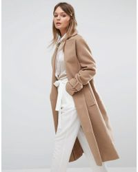 Fashion Union - Full Length Smart Over Coat - Lyst