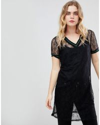 Ichi - Lace Sheer Dress - Lyst