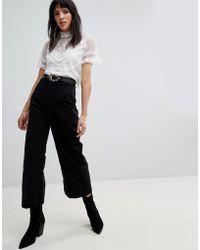 Free People - Patti Wide Leg Cropped Trousers - Lyst
