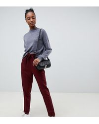 ASOS DESIGN - Tall Woven Peg Trousers With Obi Tie - Lyst