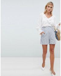 Vila - Stripe Shorts - Lyst