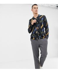 Noak - Revere Shirt With Hand Print In Long Sleeves - Lyst