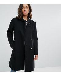 ASOS - Smart Slim Coat With Funnel Neck - Lyst