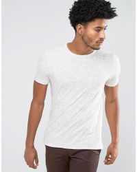 Mango - Man T-shirt With Speckles In Off White - Lyst