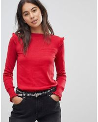 Oasis - Oaiss Frill Sweater - Lyst