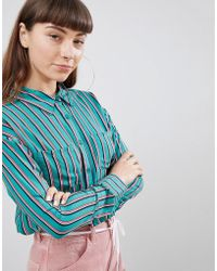 Daisy Street - Relaxed Shirt In Contrast Stripe - Lyst