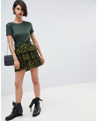 Vero Moda - Animal Print Skirt - Lyst