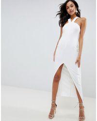 ASOS - Strappy Cape Maxi Dress - Lyst