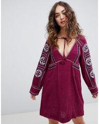 Free People - All My Life Embroidered Shift Dress - Lyst