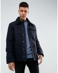Tokyo Laundry - 50% Wool Lined Borg Collar Jacket - Lyst