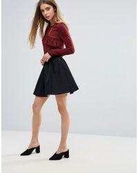 First & I - Mini Skater Skirt - Lyst