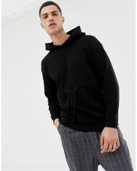 Only & Sons - Drop Shoulder Hoodie With Drawstring Detail - Lyst
