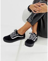 Vans Old Skool Premium Black With Checkerboard Laces Trainers