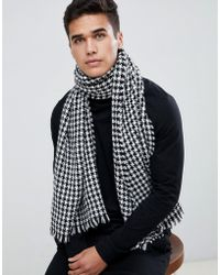 SELECTED - Scarf In Houndstooth Pattern - Lyst
